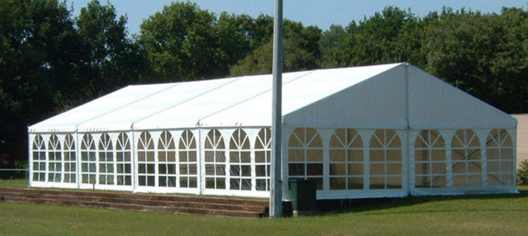 Marquee tent with Georgian windows